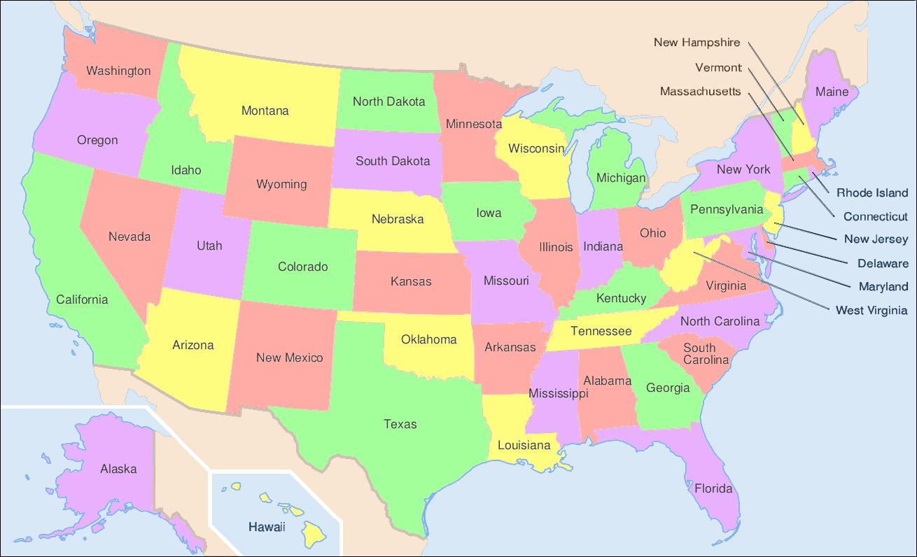 عرض خريطة الولايات المتحدة الأمريكية اعرض خريطة الولايات المتحدة